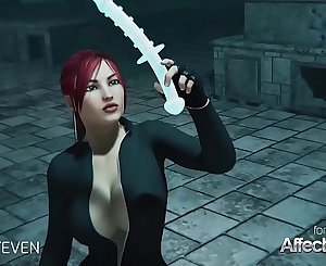 3d animation moster sex with a crimson hair big tits honey