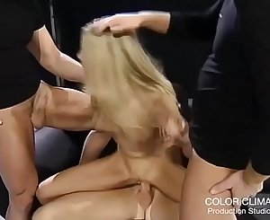 Young Model abused by 3 guys!