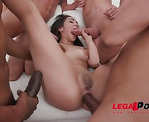 Incredibly hot Ginebra Bellucci assfucked balls deep by Gonzo monster cock team