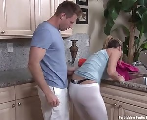 Blonde milf stepmom stuck in sink and met Savior Stepson Jodie West & Levi Cash Snapchat: Jelew4820