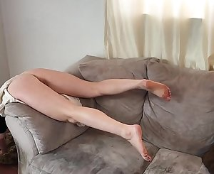 Stepmom stuck over the couch gets good sex from stepson - Erin Electra