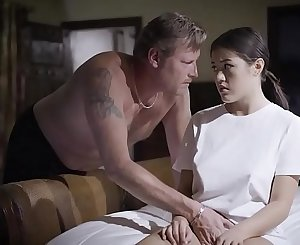 Conservative dad by day fucks his stepdaughter at night
