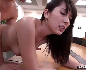 Handsome office gal Yui Hatano pussy drilled by her colleagues