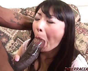 Housewife lets big black hard-on fuck her then swallows