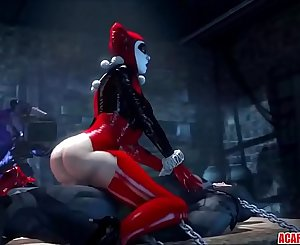 Big dick Batman and Arkham babes fucking hard