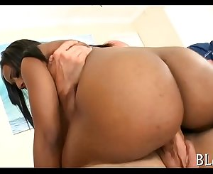 Ebony strips to have a fun hook-up